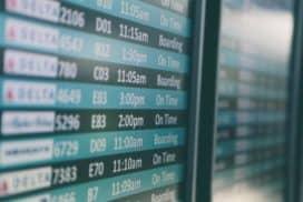 opóźniony lot natablicy informacyjne