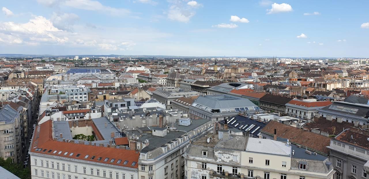 Widok na Budapeszt z kopuły bazyliki św. Stefana