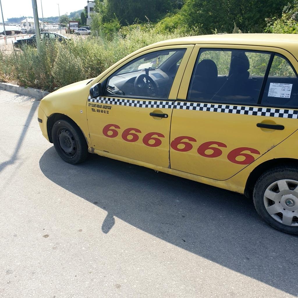 Żółta taksówka w bulgarii