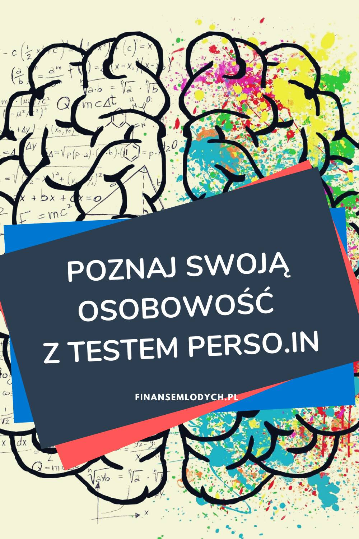 Grafika Pinterest - Poznaj swoją osobowość ztestem PERSO.IN